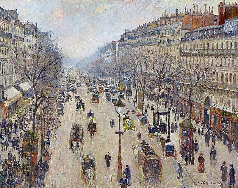 Boulevard Montmartre, Morning, Cloudy Weather is held by the National Gallery of Victoria
