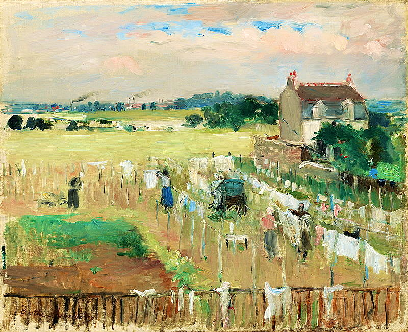 Morisot's Hanging the Laundry Out to Dry