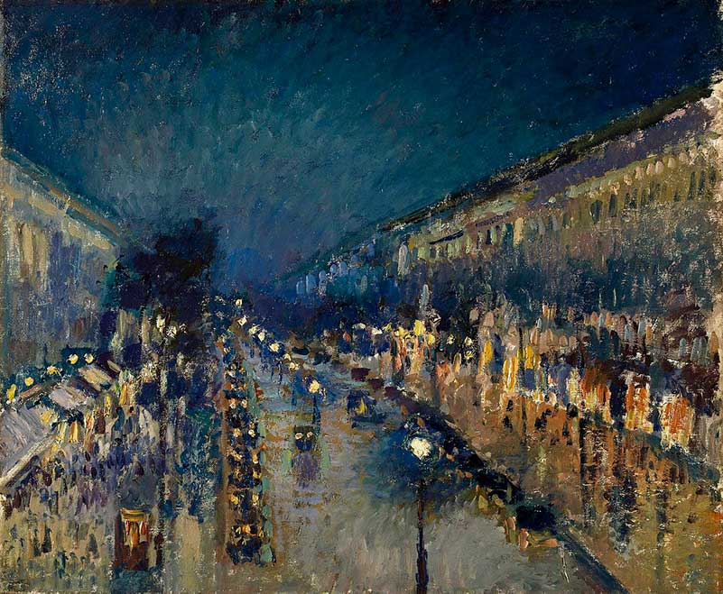 Boulevard Montmartre at Night