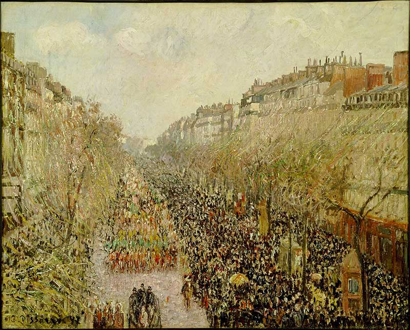 One of the three versions of Boulevard Montmartre at Mardi Gras - for the others see below.