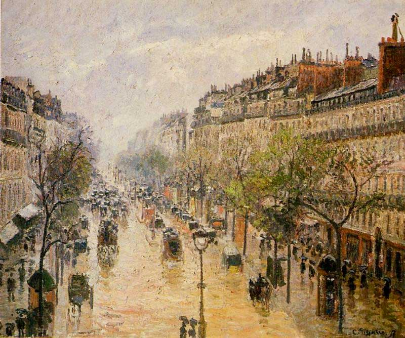 ... can be contrasted with Boulevard Montmartre Spring Rain ...