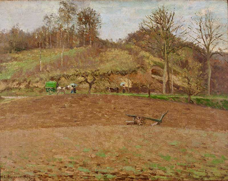 Pissarro's The Ploughed Field also felt the wrath of Leroy's review.