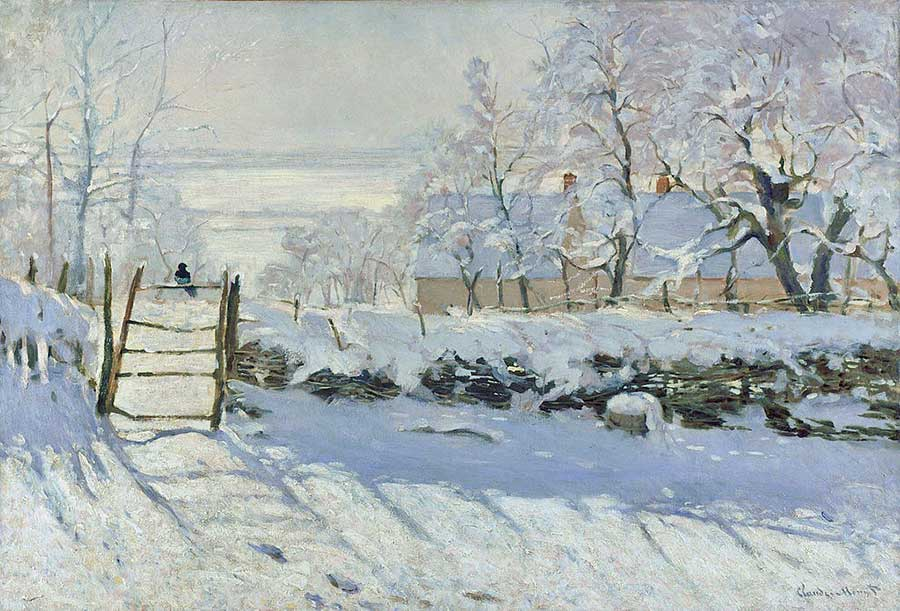 Monet's The Magpie is now regarded as his finest snowscape