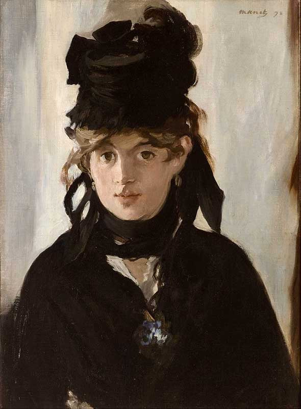 Berthe Morisot with a Bouquet of Violets (1872)