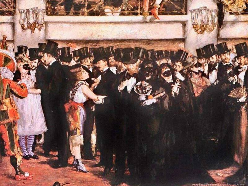 Manet's Masked Ball at the Opera (1873)
