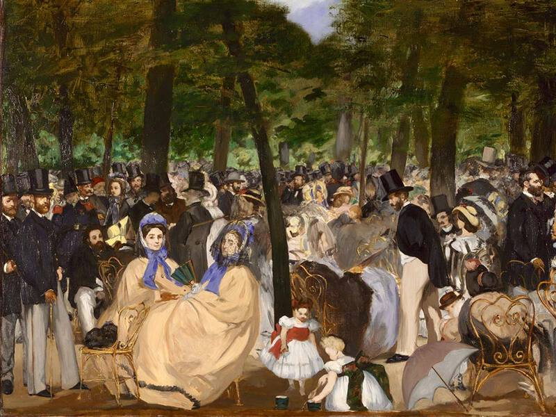 Manet's Music in the Tuileries (1862)