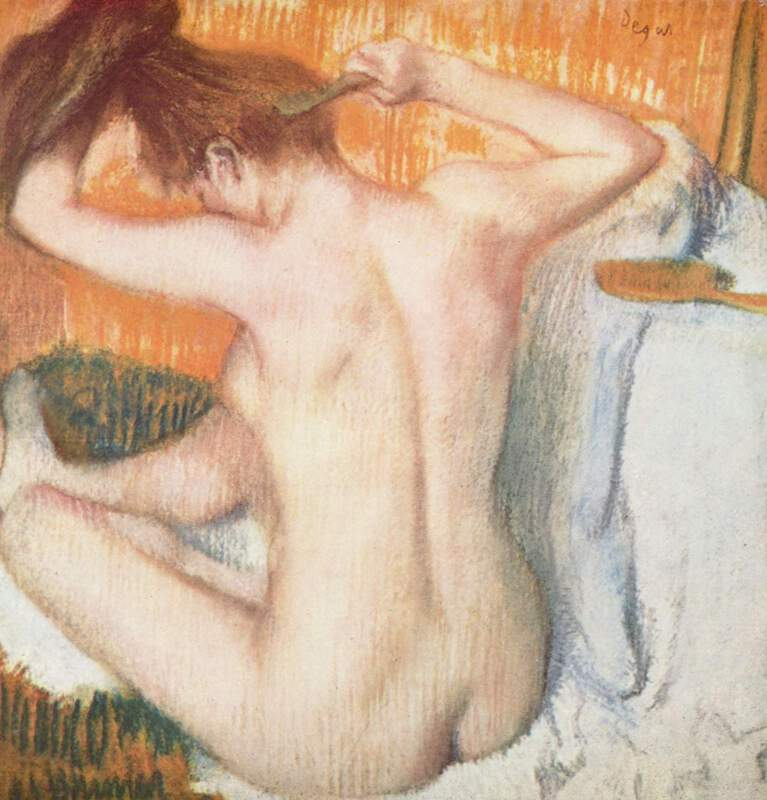 Degas' Woman Combing her Hair