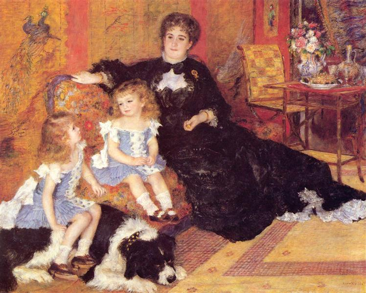 Renoir earned good money from society portraits such as Madame Charpentier and her Children