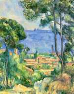Paul Cézanne's L'Estaque in 1883–1885. Cézanne, worried about Pissarro, invited him to go and stay with him in L'Estaque where he was working on a commission for Chocquet.