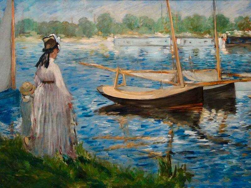 Edouard Manet's The Seine at Argenteuil could be mistaken for a Monet