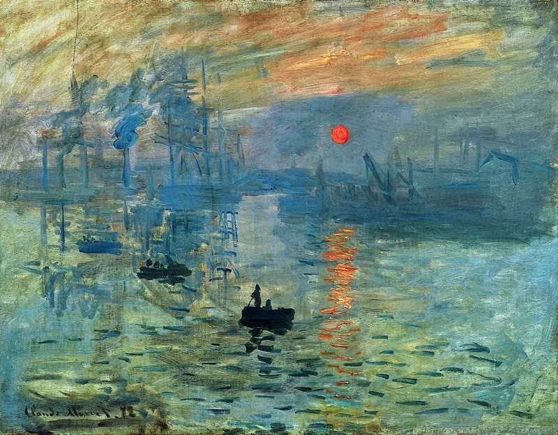 'Impression, Sunrise' by Claude Monet ca. 1873, currently at Musée Marmottan Monet, Paris, France