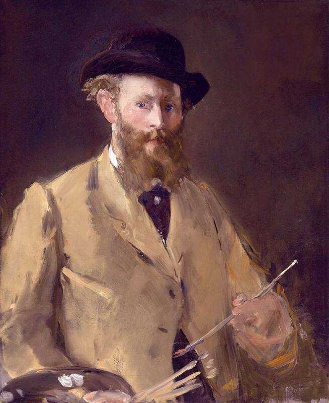 A Manet self-portrait painted in the early 1880s.
