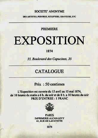 The catalogue for the First Impressionist Exhibition