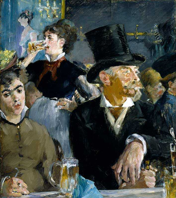 At the Cafe is typical of Manet's focus on portraiture and modern scenes.