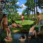 'Summer Scene (Bathers)', by Frédéric Bazille, c. 1869, Harvard Art Museums/Fogg Museum, Gift of Mr. and Mrs. F. Meynier de Salinelles
