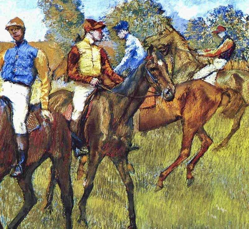 Degas is famous for painting ballerinas and jockeys!