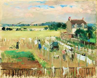 Berthe Morisot's Hanging the Laundry out to Dry